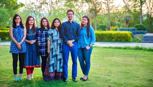 Vipin Bakiwala Design Studio Team (L to R) - Ar. Ginni Jain, Anu Mehra, Ar. Nanika Nagar, Nidhi Jain, Ar. Vipin Bakiwala and Ar. Surbhi Chittora