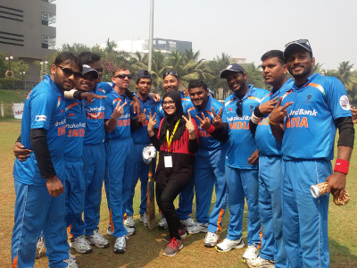 Dr. Masooma Ladiwala PT - Physical Therapist at T20 Cricket Worldcup for Blind 2017 - 1