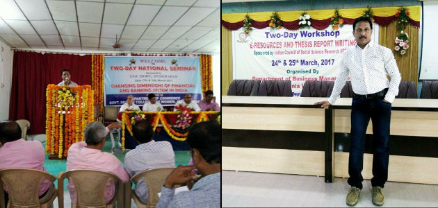 Professor Srinivas Gunda presenting paper and attending workshop