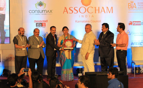 Swarna Raja Kochi - Emerging Tycoon Award at MSME Award 2017 by ASSOCHAM Karnatata Council