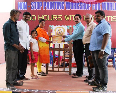 Swarna Raja Kochi - Miracles World Record for 100 hours non stop painting at Ongole 2015