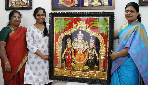 Swarna Raja Kochi Tanjore Art Classes 7