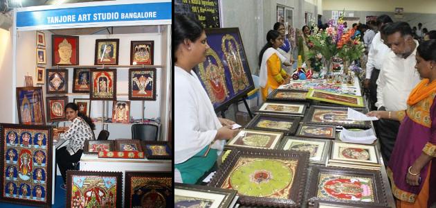 Swarna Raja Kochi - Tanjore Art Exhibition stalls