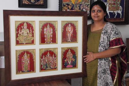 Swarna Raja Kochi Tanjore Art Studio Artwork 1