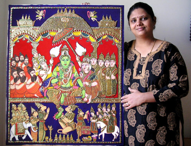 Swarna Raja Kochi Tanjore Art Studio Artwork 2