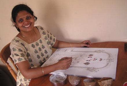 Swarna Raja Kochi Tanjore Art Studio Artwork 3
