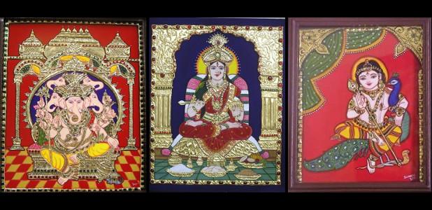 Swarna Raja Kochi Tanjore Art Studio Artwork 5