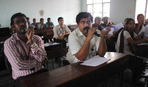 Yaswanth Bhanu Murthy - As a Judge during Inter-College Technical Competitions