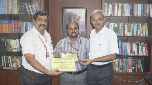 Yaswanth Bhanu Murthy - IEAE Bangalore Research Excellence Award 2017