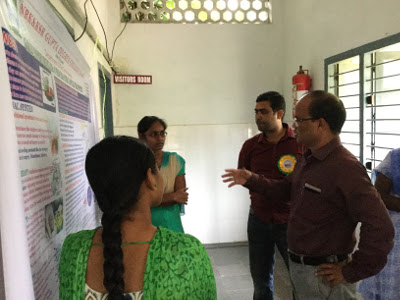 Dr Ravi Varala as Judge in a Poster presentation event