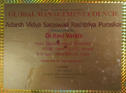 Dr Ravi Varala honoured with Global Management Council Award