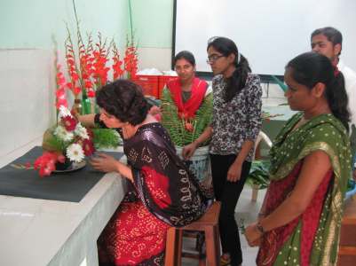 Dr Alka Singh - Students trained under Experiential Learning Program on different aspects of floriculture 2