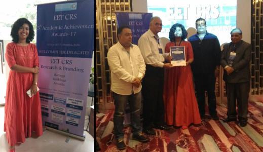 Dr Priyanka Kacker - EET-CRS Award ceremony