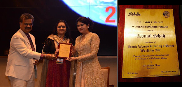 Komal Shah - Kundalini Healing - All Ladies League - Women Economic Forum Award