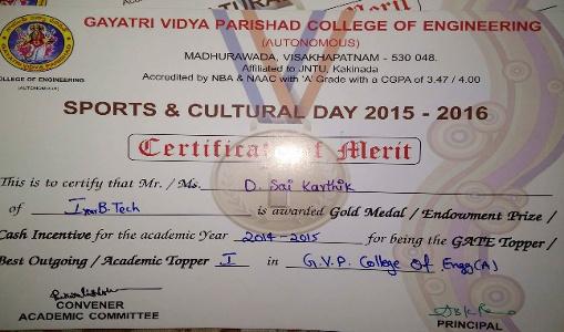 Sai Karthik Kumar Dharanikota - First Year Award