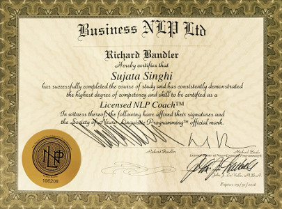 Sujata Singhi NLP Certification