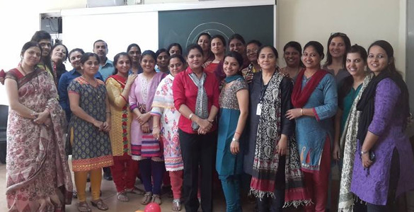 Sujata Singhi - training teachers of Khar International School of Cambridge board - Jan 2015
