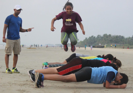 Sunil Fitness Wave - Beach Workout 4