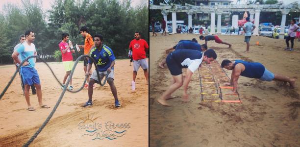 Sunil Fitness Wave - Beach Workout 5