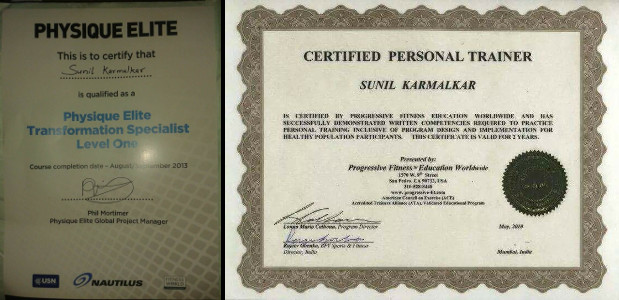 Sunil Karmalkar Fitness Wave - Certification 2