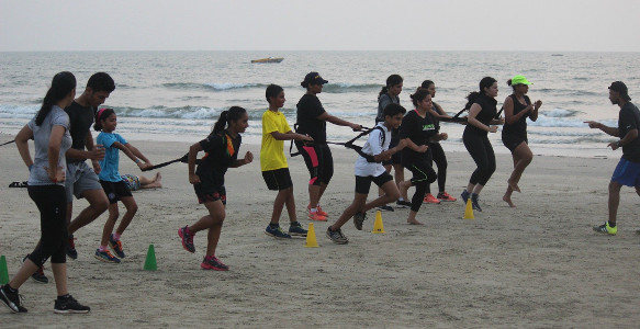 Sunil Karmalkar Fitness Waves - Kids at Beach 3