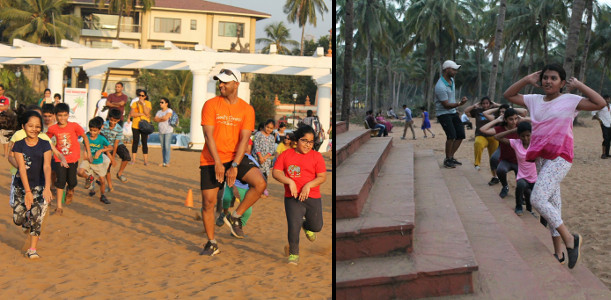 Sunil Karmalkar Fitness Waves - Kids at Beach 4