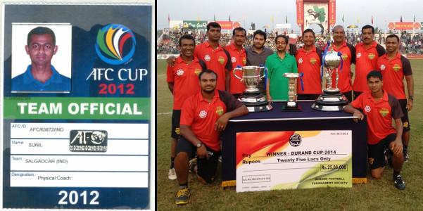 Sunil Karmalkar - Salgaocar FC AFC Cup 2012 and winning Durand Cup 2014