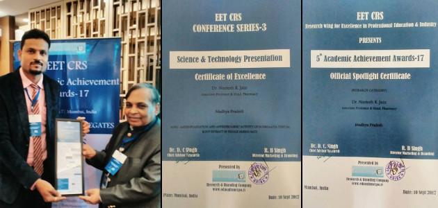 Dr Neetesh Jain EET CRS Awards 2017