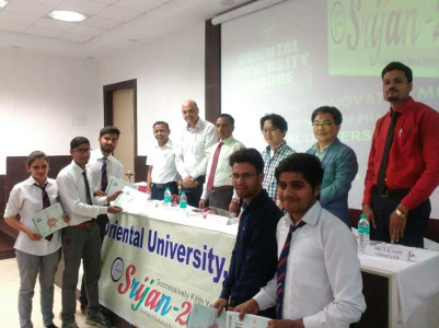 Dr Neetesh Jain - His students receive first prize in Statewide Innovative Pharma Models competition -Srijan 2017