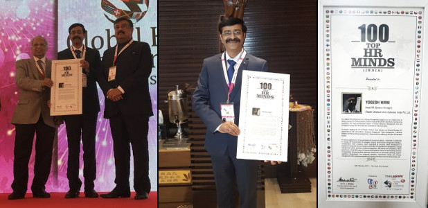 Yogesh Wani World HRD Congress Award of Top HR Minds
