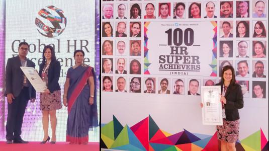 Payal Nambiar receiving WHRD Award