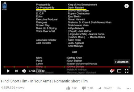 Ved Rawtaani - In Your Arms -Shortfilm