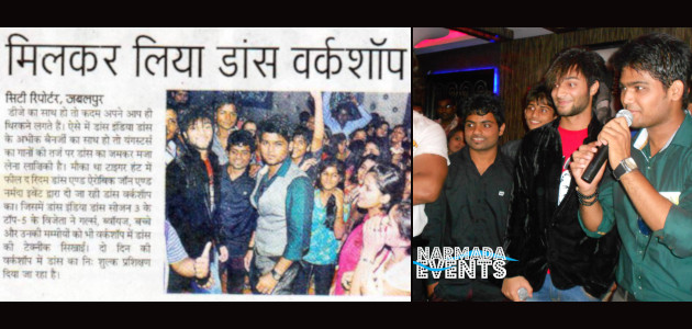 Narmada Events Jabalpur - Dance Workshop with Abhik Banerjee