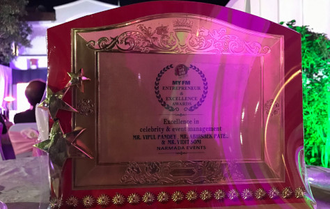 Narmada Events Jabalpur - Entrepreneur Excellence Award by MyFM