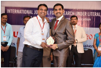 Aashish Bardekar - IJRULA Best Research Award 2018,Trichy