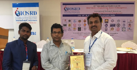 Aashish Bardekar - IOSRD Best Research Award 2018 Vizag