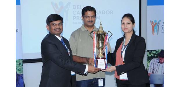 Dr Nilesh Uke - Best HoD Award at Dell Campassador Program,organized by Dell India at Banglore, 2016
