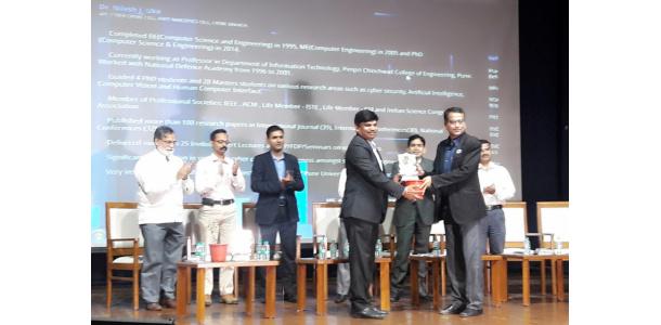 Dr Nilesh Uke - Cyber Crime Helpline Award organized by Digital Task Force & Cyber Crime Helpline at Pune in 2017