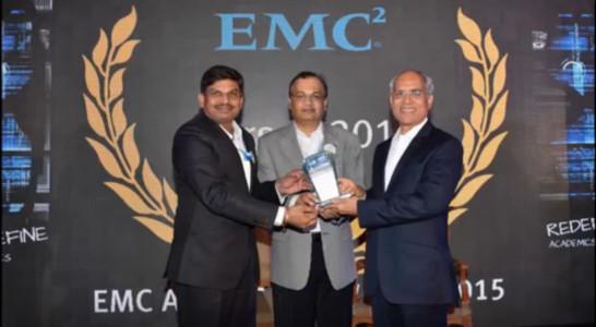 Dr Nilesh Uke - EMC Star of 2014 Award at EMC Academic India Awards, Chennai, 2015