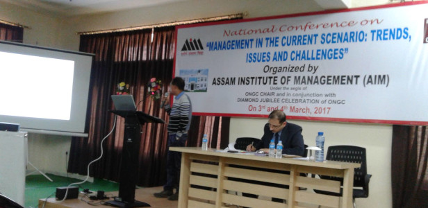 Dr Porag Kalita - invited as speaker in National Conference at Assam Institute of Management Gauhati