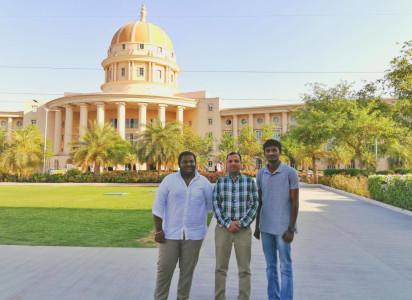 Dr Ravi Kumar Gupta with students of VelTech University Chennai at MUJ campus