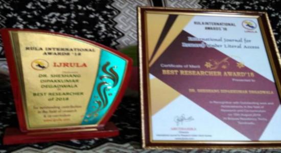 Dr Sheshang Degadwala - Awards3