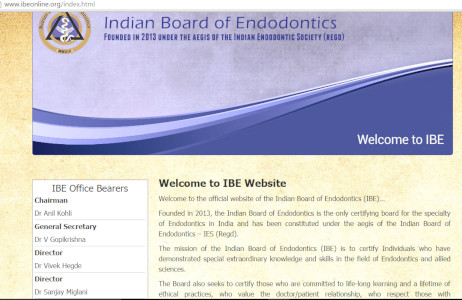 Dr. Sanjay Miglani - Director,Indian Board of Endodontics