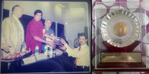 Hardeep Singh - receiving Rashtriya Vidya Saraswati Puraskar