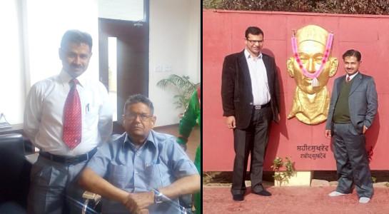 Hardeep Singh - with Dr D P Kothari and Deepak Jindal