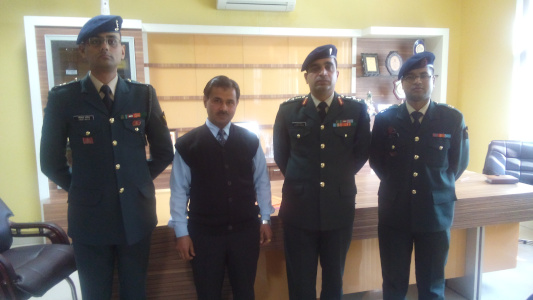 Hardeep Singh with UES recruiters at FCET Ferozepur
