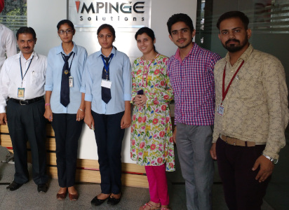 Hardeep Singh - with his BTech students and staff of Impinge Solutions Chd