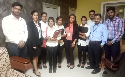 Hardeep Singh - with staff of RAPSiTECH and selected students of BTech at FCET