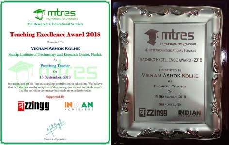 MTRES - Teachers Excellence Award 2018