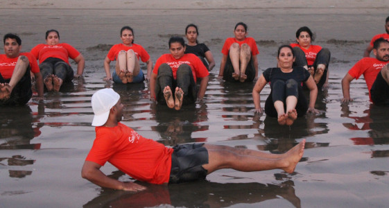 Sunil Fitness Wave - Beach Workout 13